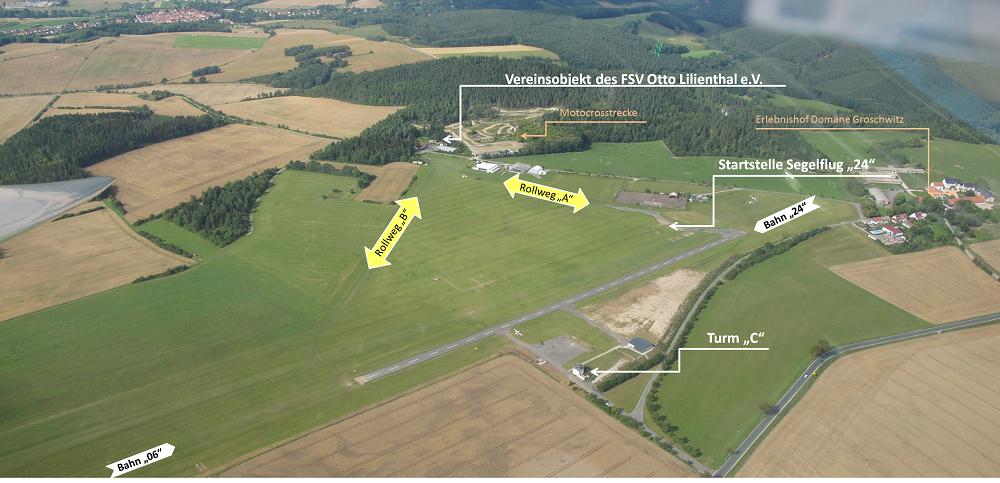 """Übersichtskarte Blick Gegenanflug """"240"""""""