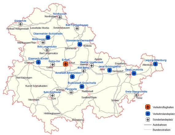Flugplätze in Thüringen