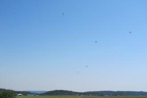 Fallschirmspringer Flugplatzhopping